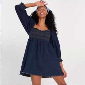 Free People This is Everything Denim Mini Dress